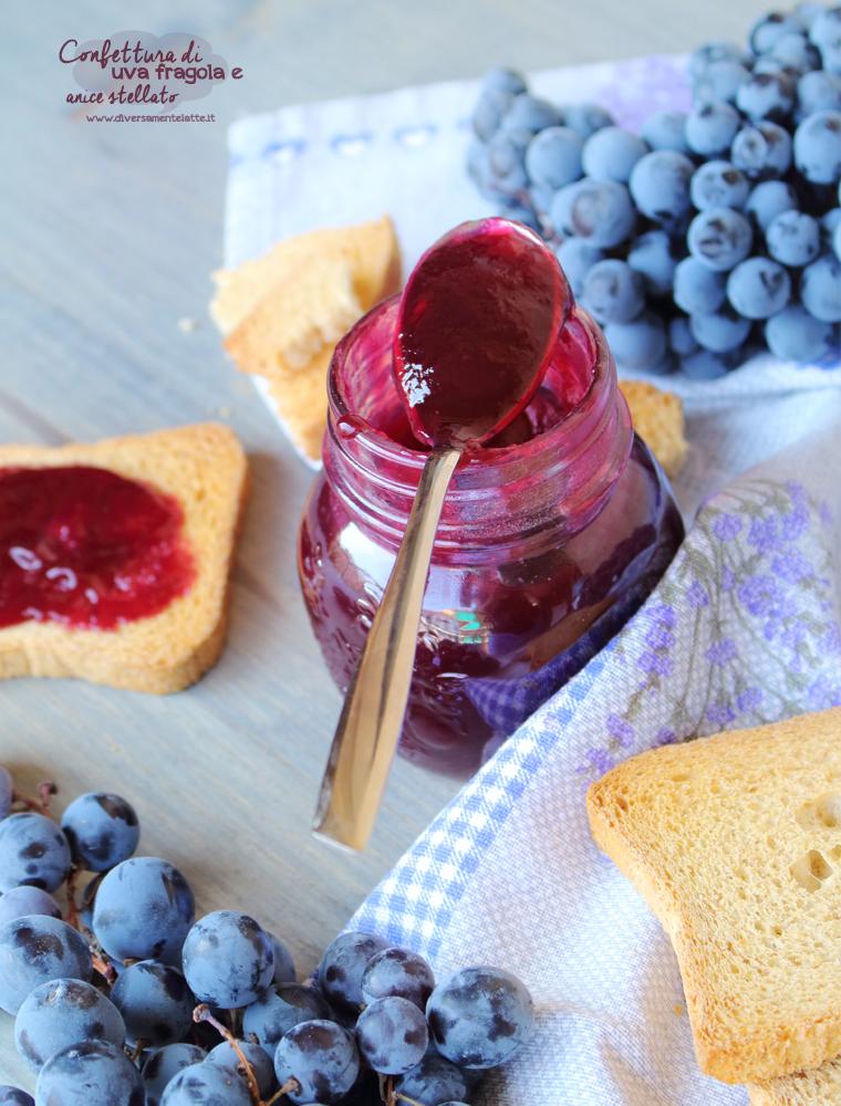 confettura di uva e anice stellato