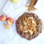 diversamentelatte galette integrale alle pesche e mele senza burro