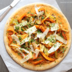 diversamentelatte pizza alla zucca e porri
