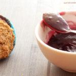 diversamentelatte muffin vegani alla confettura di uva fragola