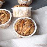 diversamentelatte muffin vegani alle mele e gocce di cioccolato