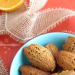 diversamentelatte madeleine miele e arancia senza glutine senza burro