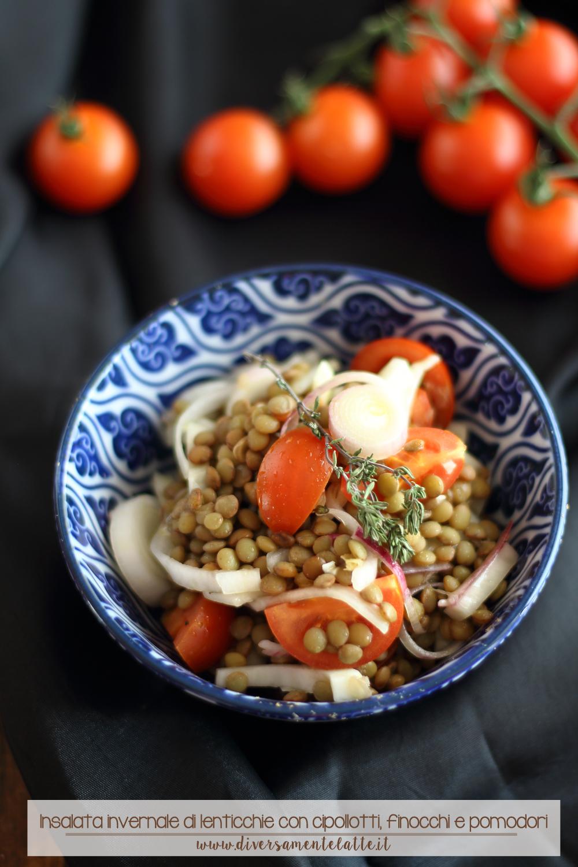 Insalata invernale di lenticchie senza lattosio