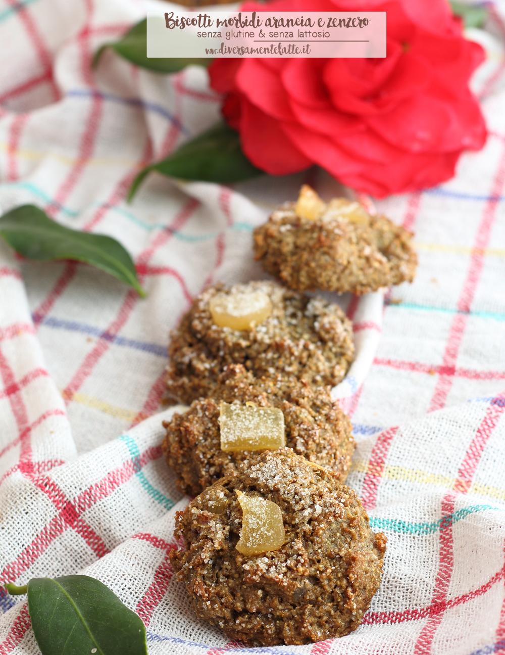 biscotti morbidi arancia e zenzero senza glutine
