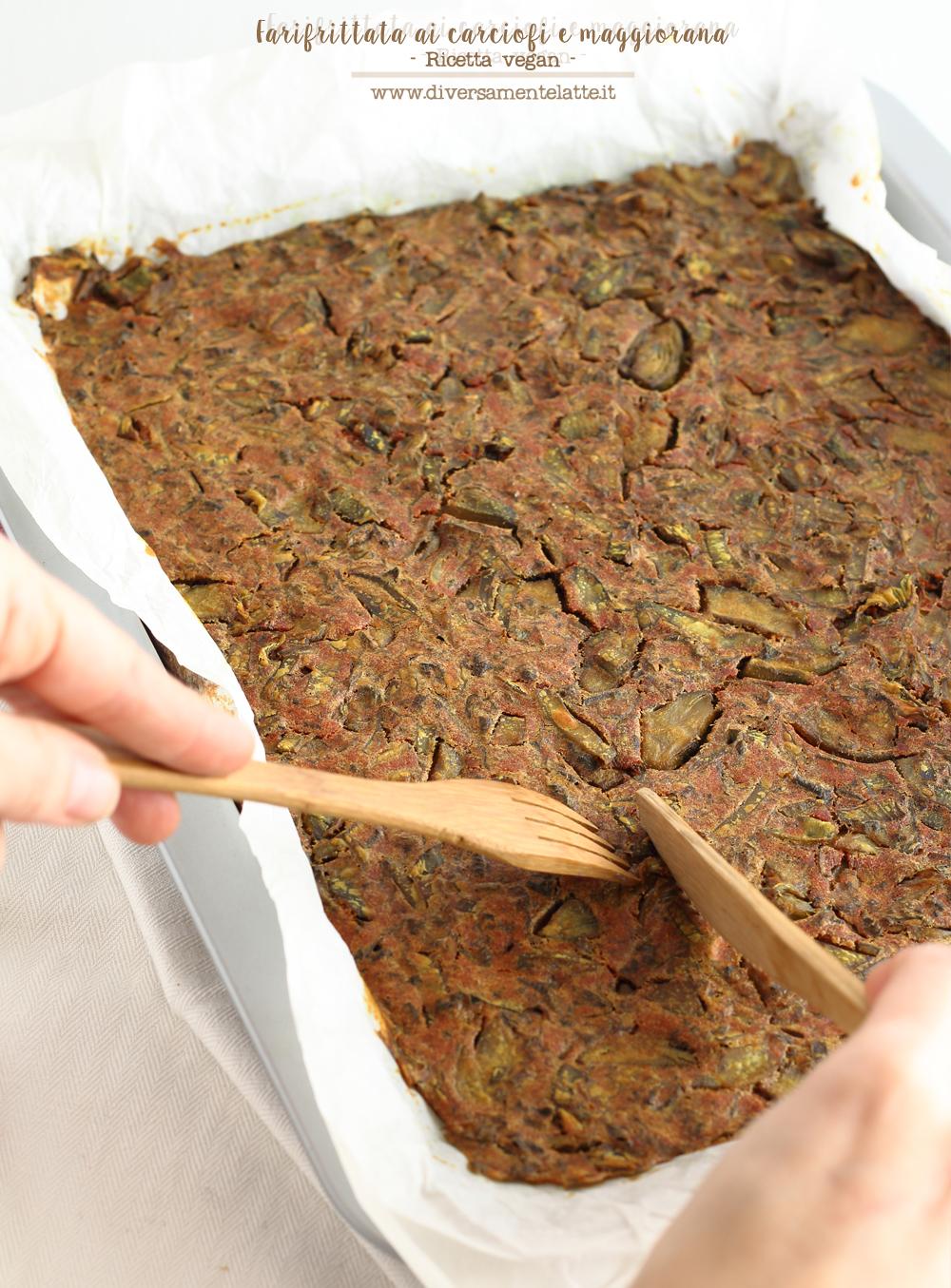 farifrittata-ai-carciofi-e-maggiorana ricetta vegan