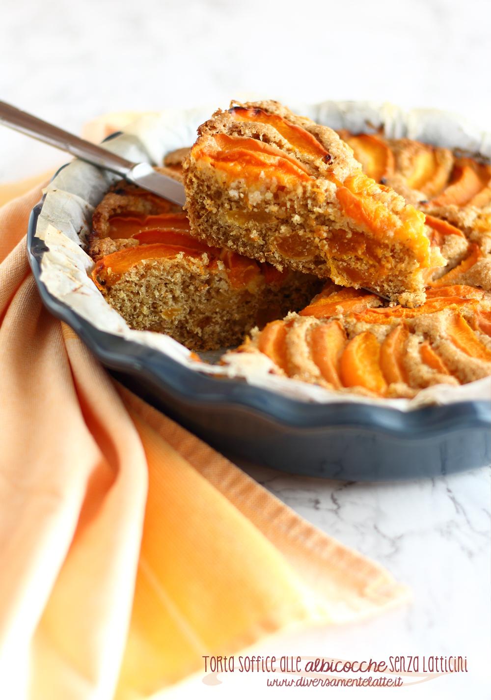 torta office alle albicocche senza burro