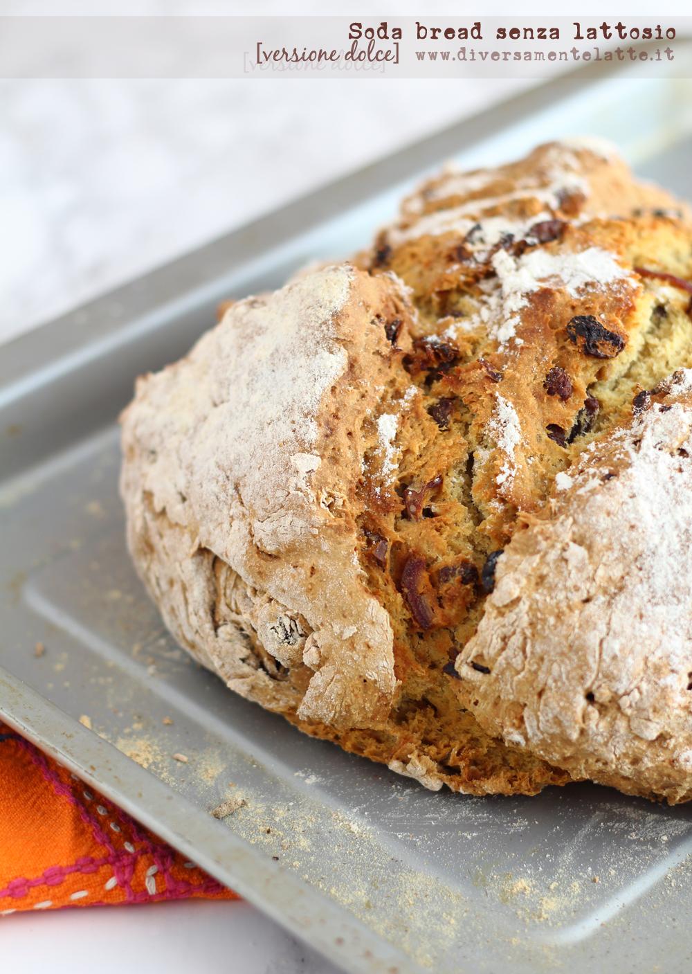 soda bread senza lattosio