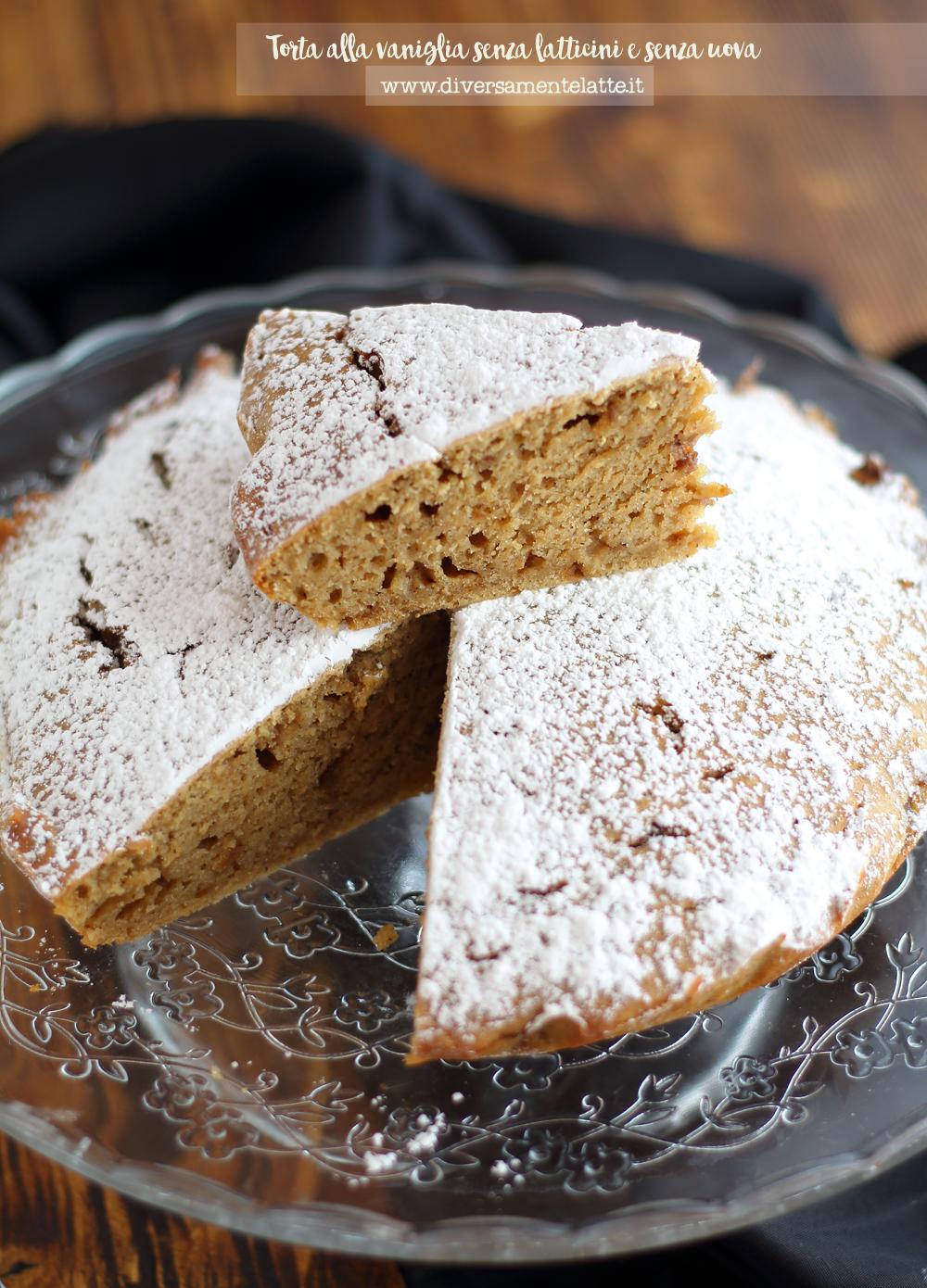torta alla vaniglia senza latticini