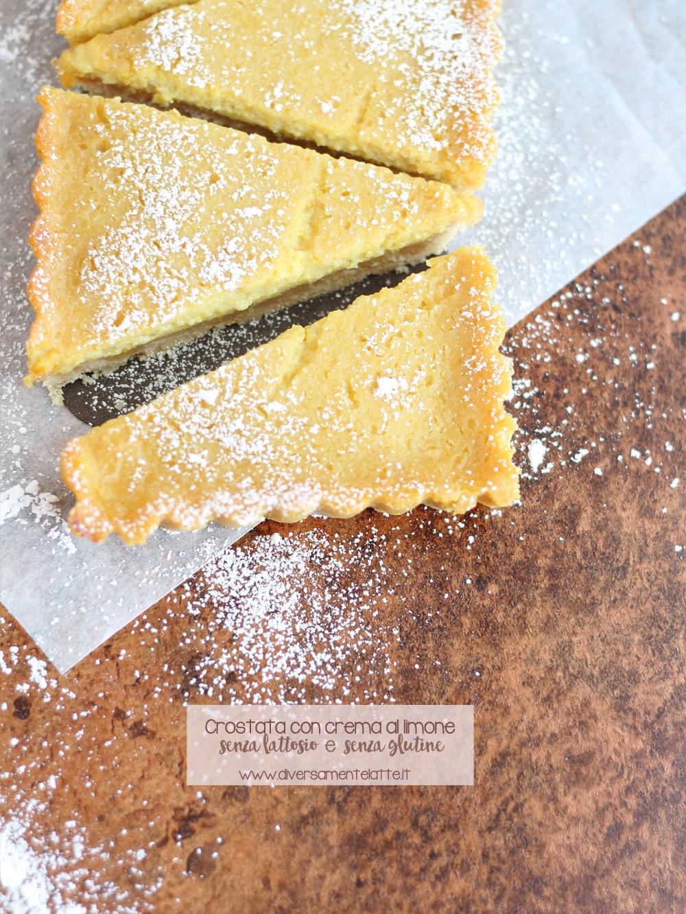 crostata con crema al limone senza glutine