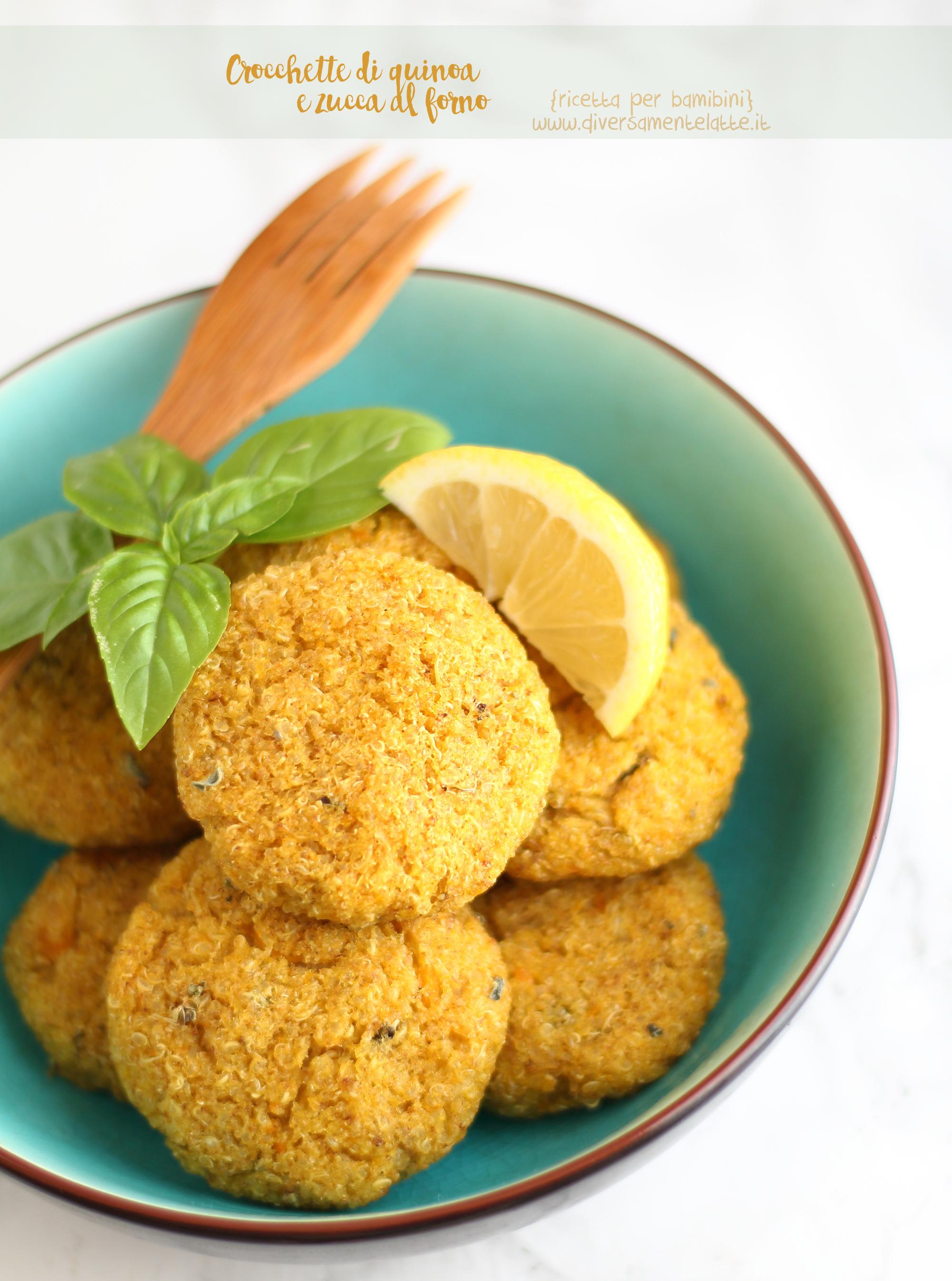 crocchette quinoa e zucca al forno