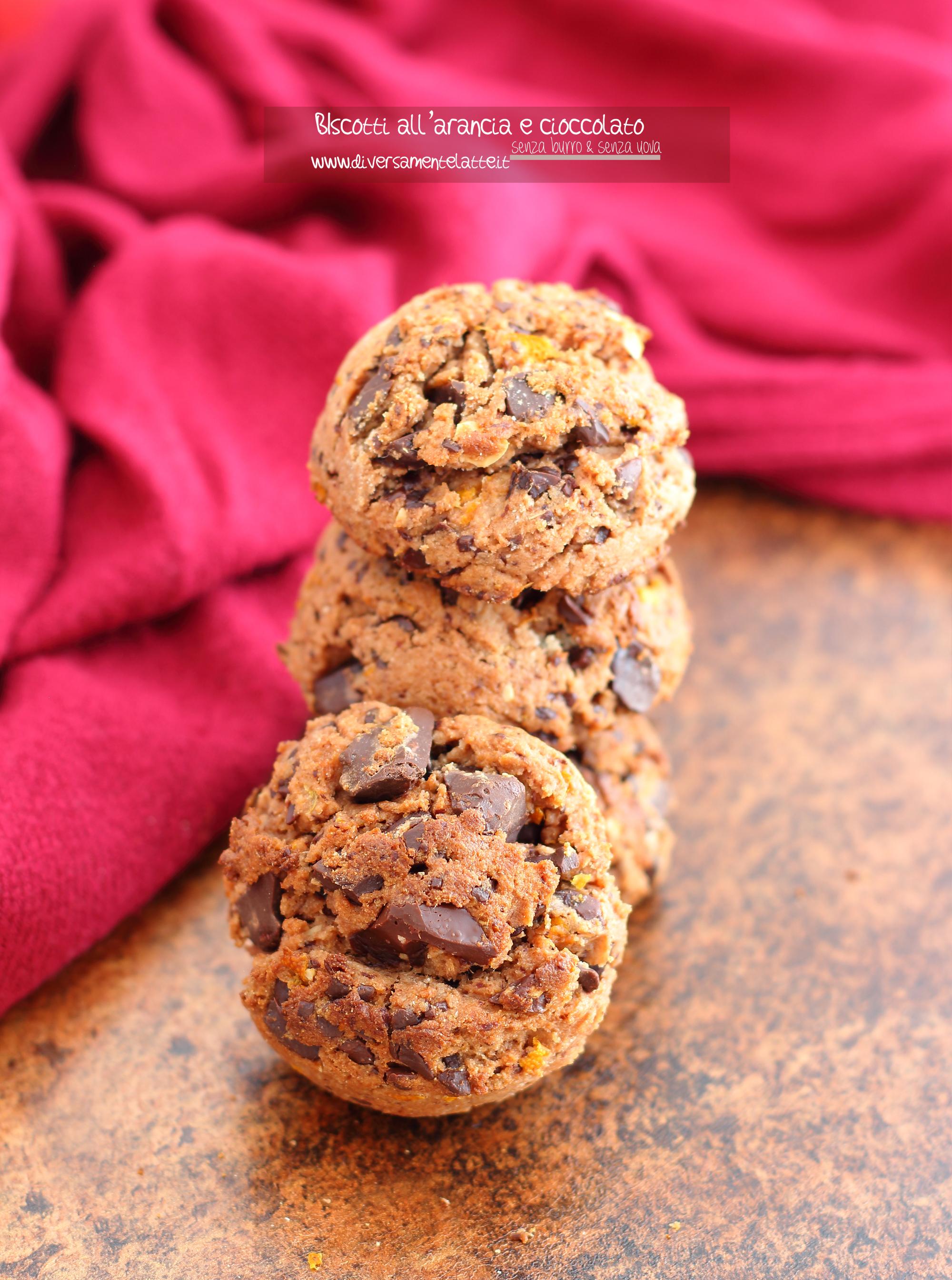 biscotti arancia e cioccolato senza lattosio
