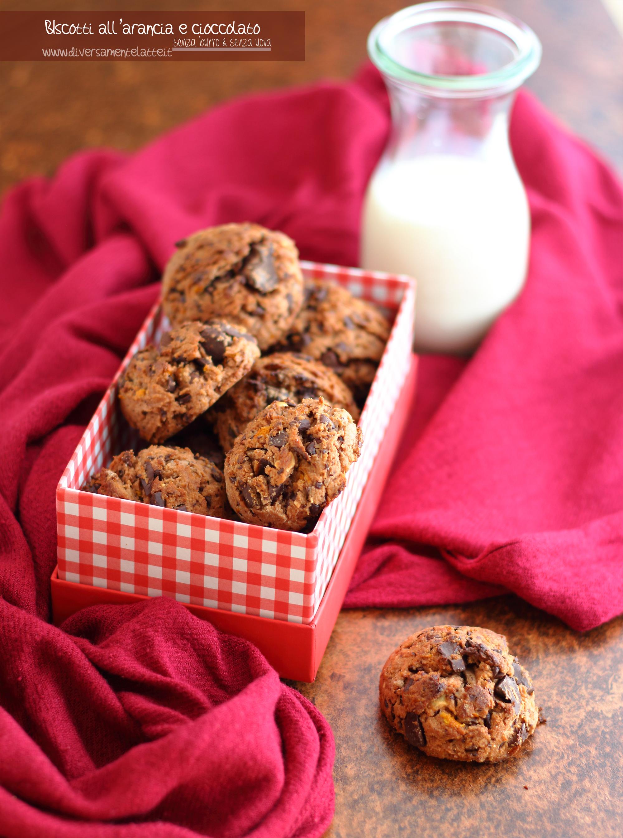 biscotti arancia e cioccolato senza burro