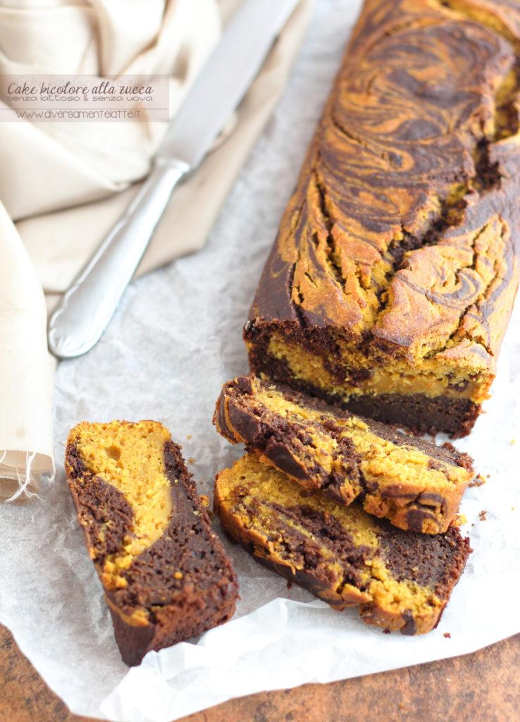 cake bicolore alla zucca senza lattosio
