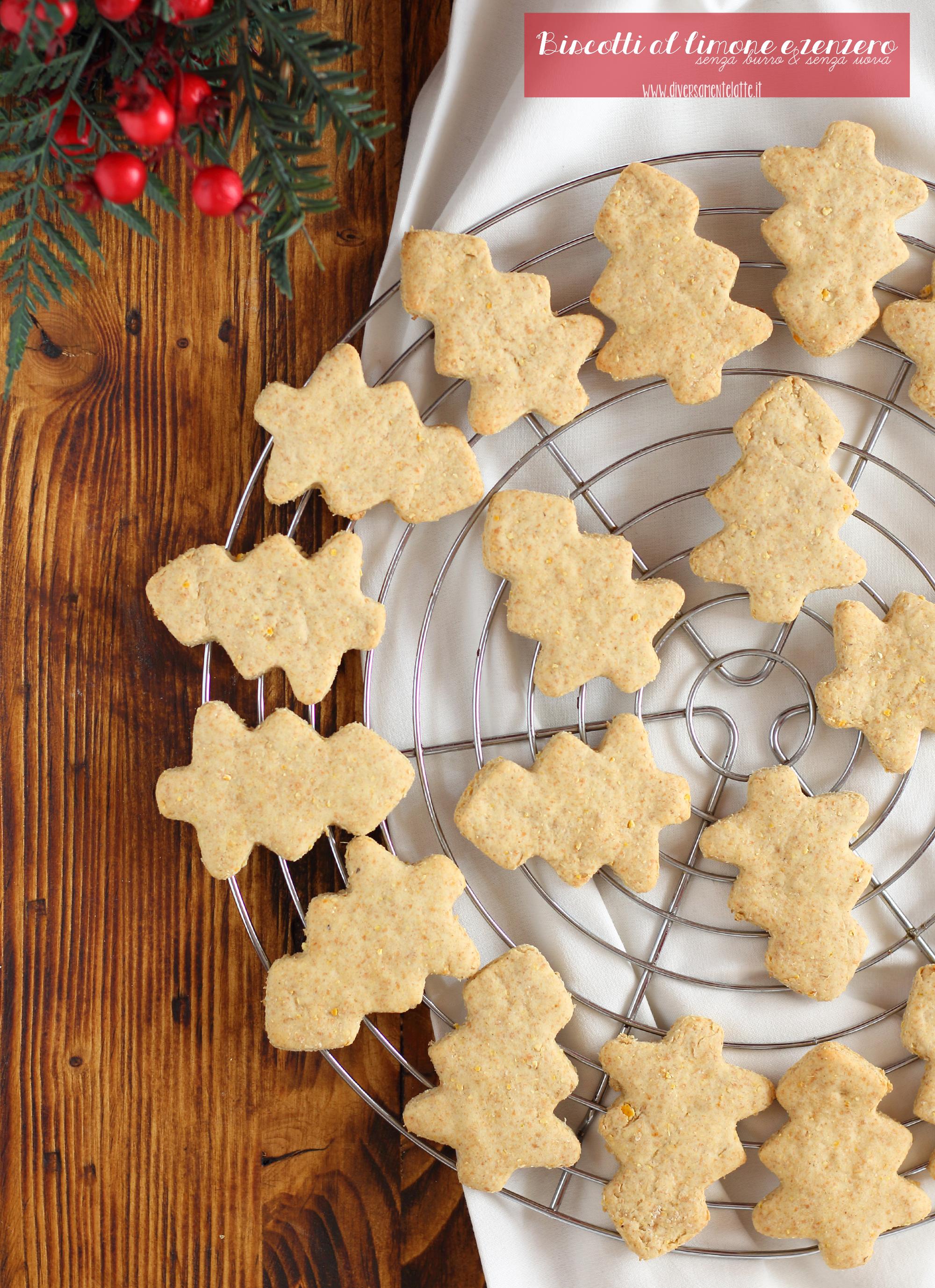 biscotti al limone e zenzero senza burro