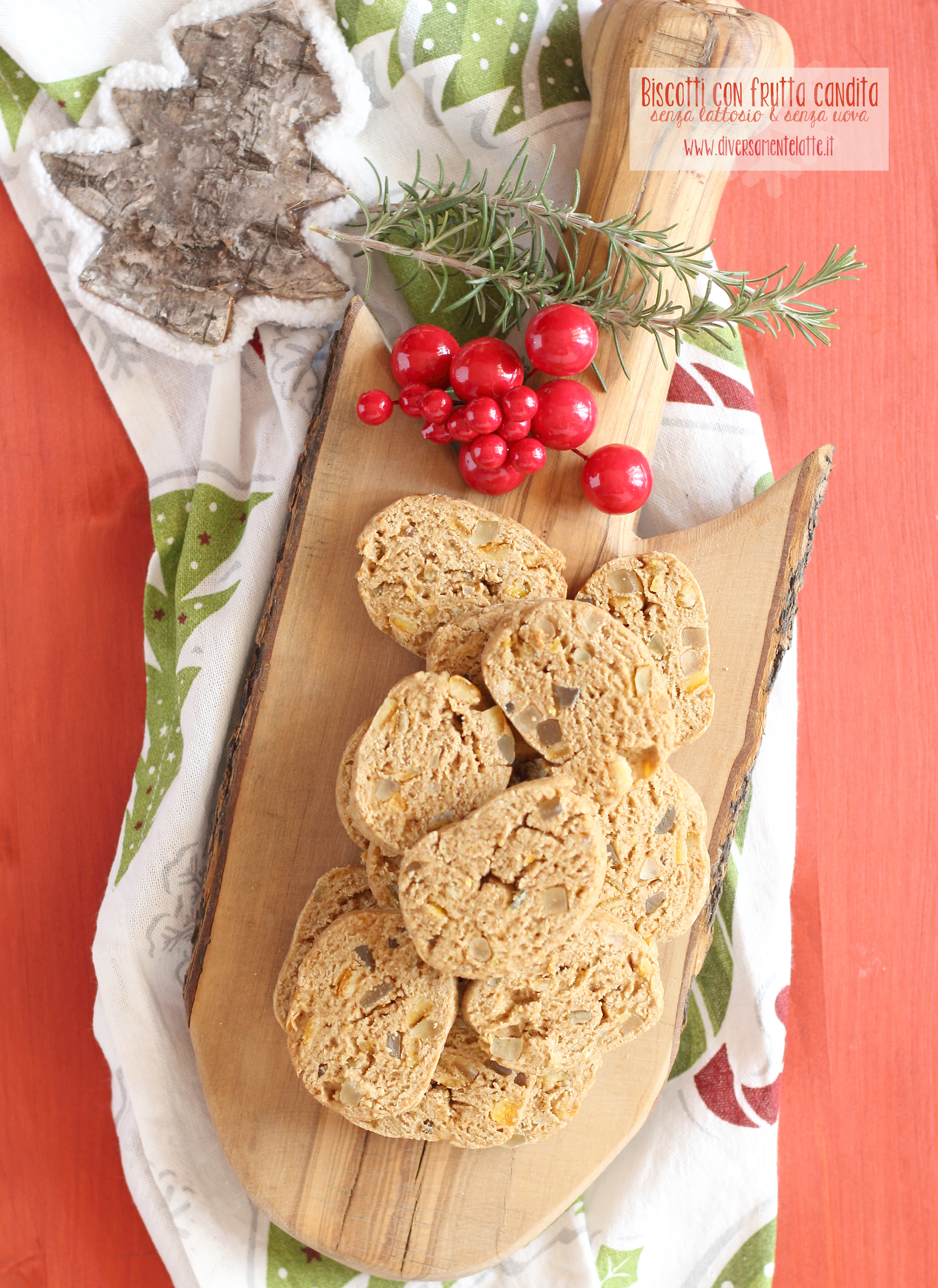 biscotti con frutta candita senza burro