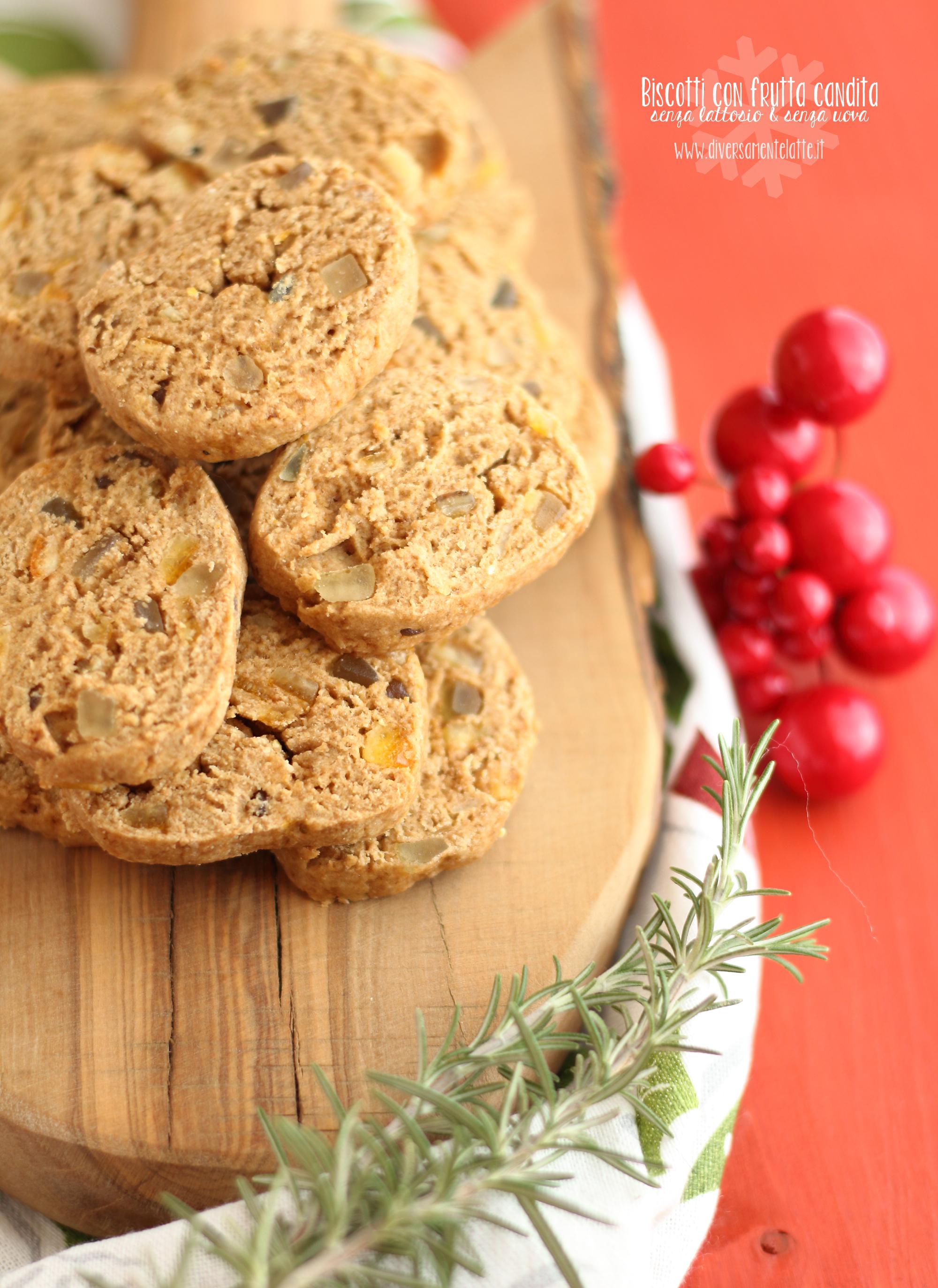 biscotti con frutta candita