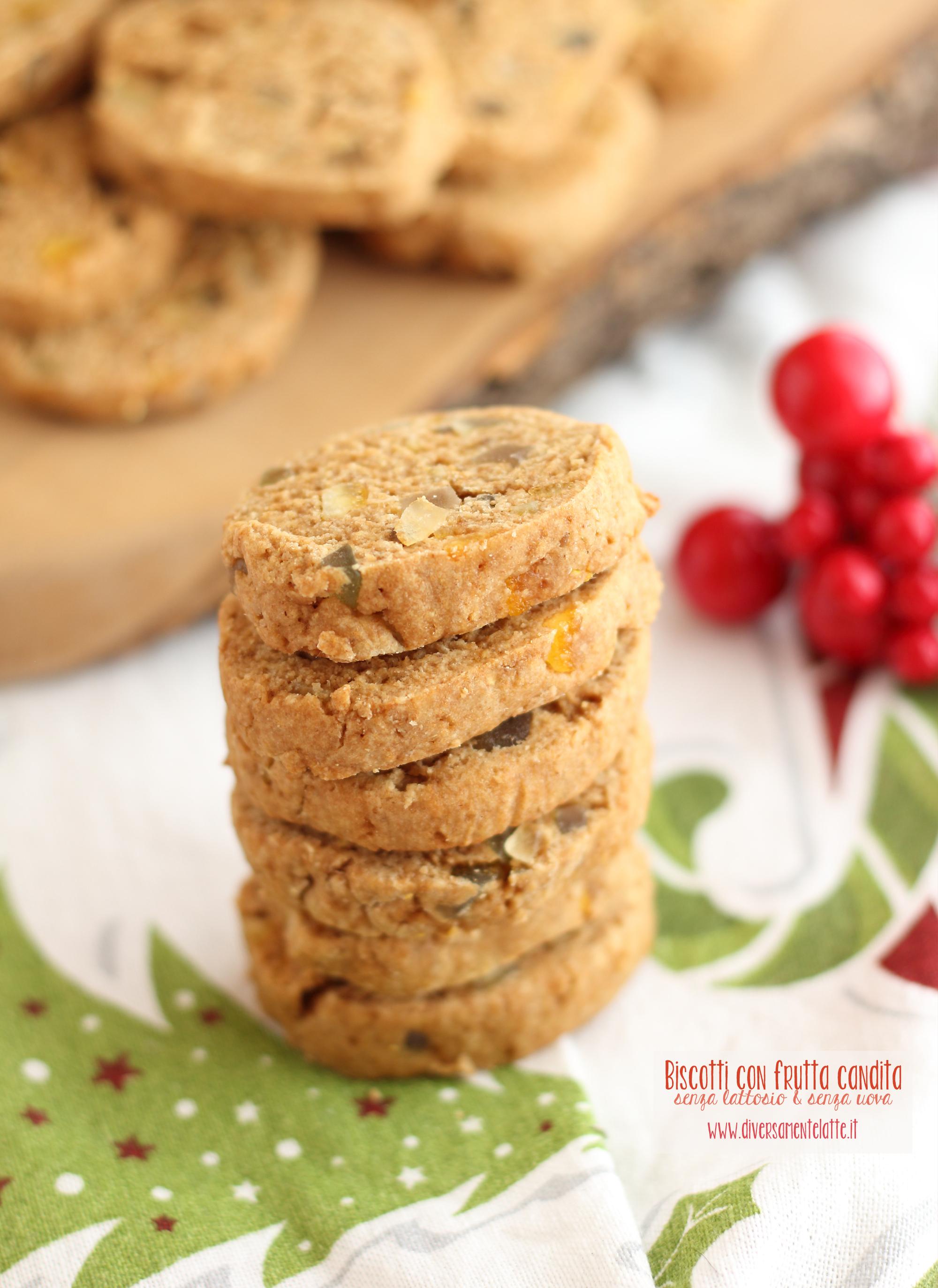biscotti di natale con canditi