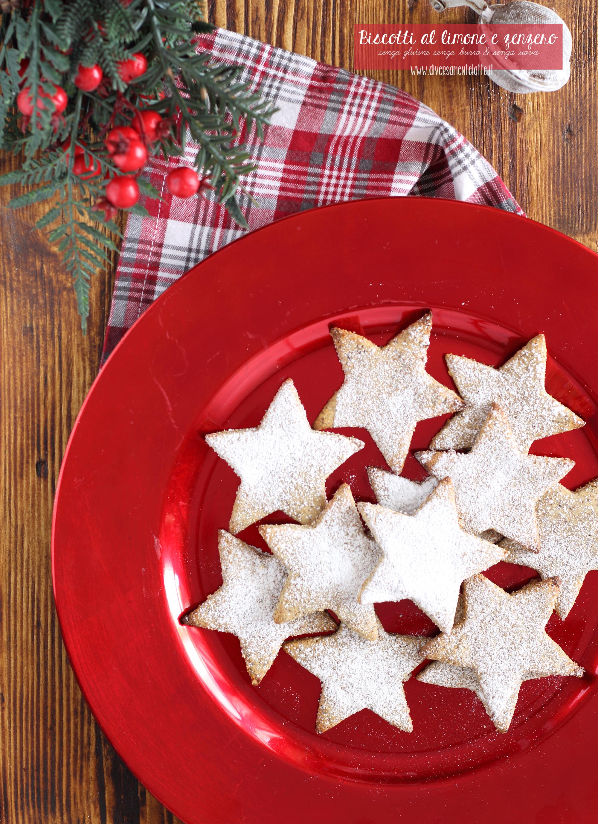 biscotti limone e zenzero senza glutine e burro