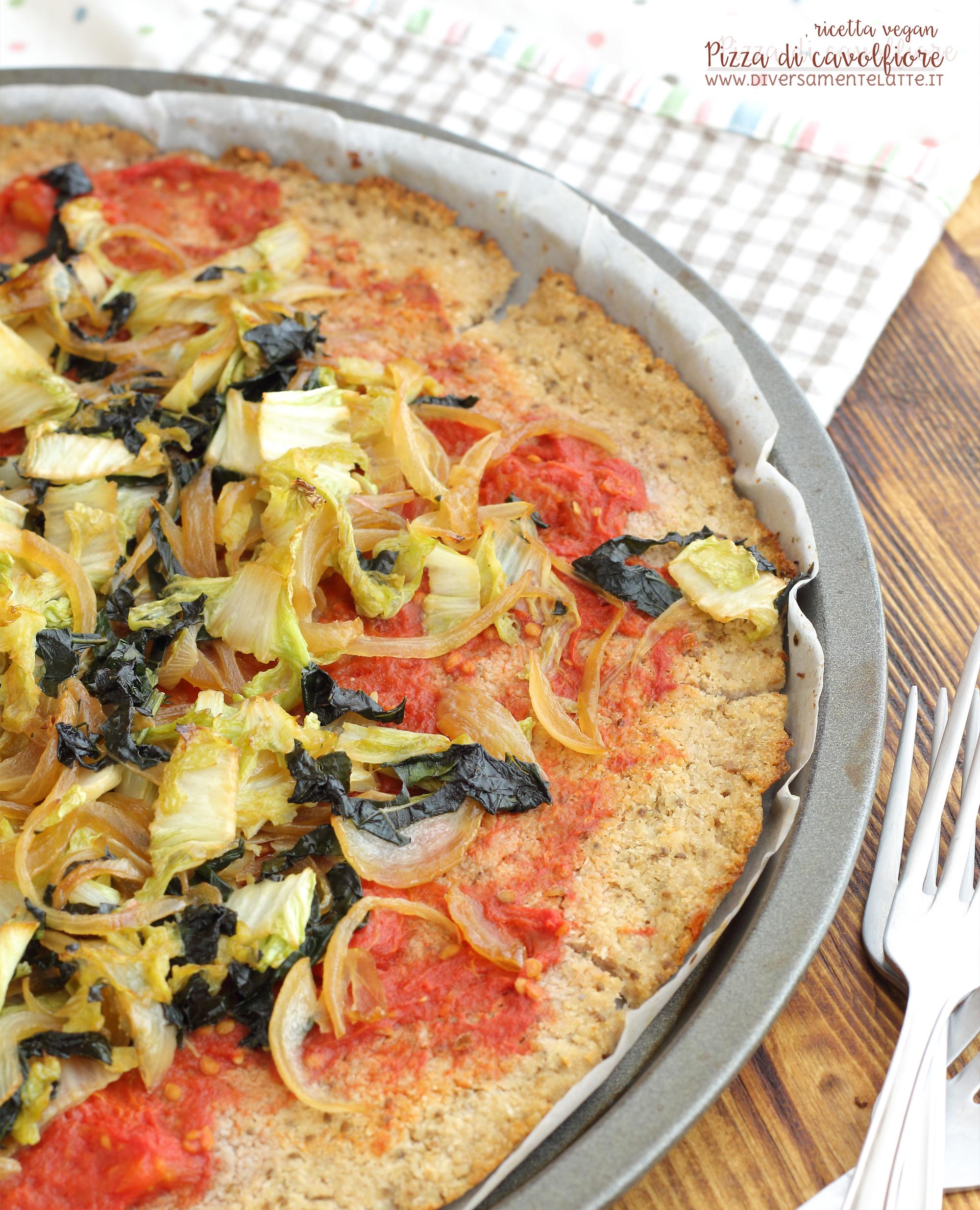 pizza di cavolfiore ricetta vegan