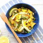 diversamentelatte_insalata sorgo, zucchine e pinoli