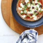 diversamentelatte_pizza al farro integrale cotta in padella