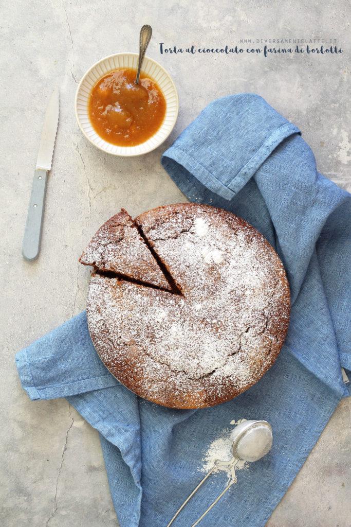 torta al cioccolato con farina di borlotti