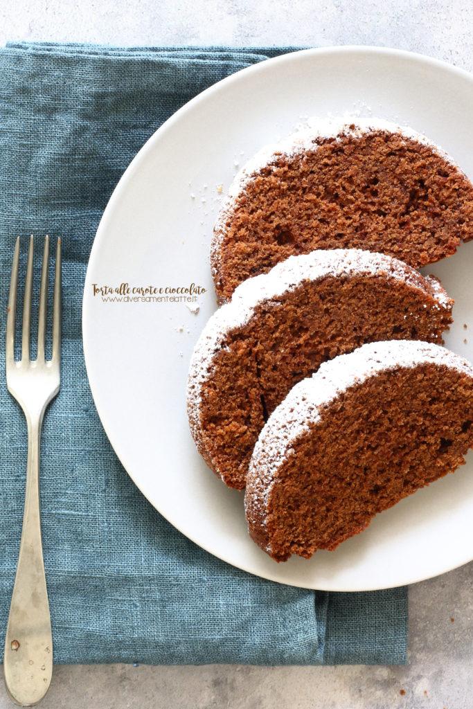 torta cioccolato e carote