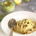 diversamentelatte_spaghetti con pesto di broccoli e lenticchie