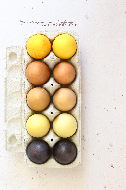 uova colorate naturalmente