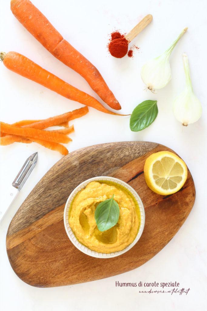 hummus di carote