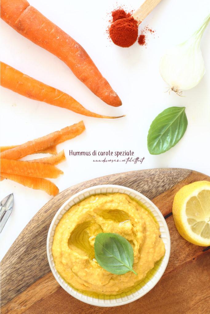 hummus di carote speziate