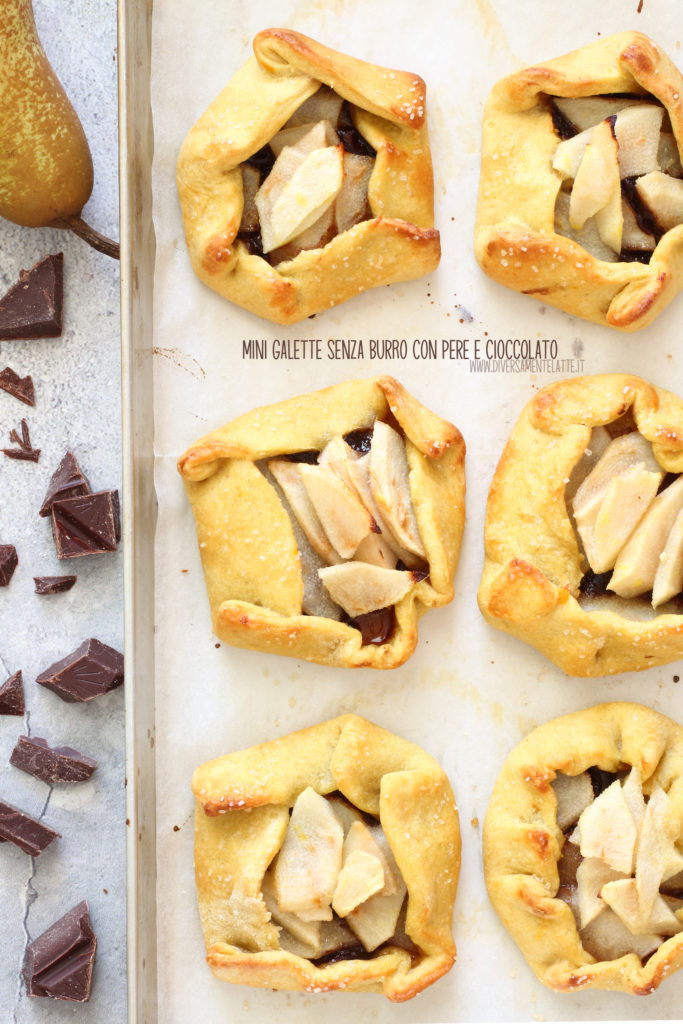 mini galette pere e cioccolato