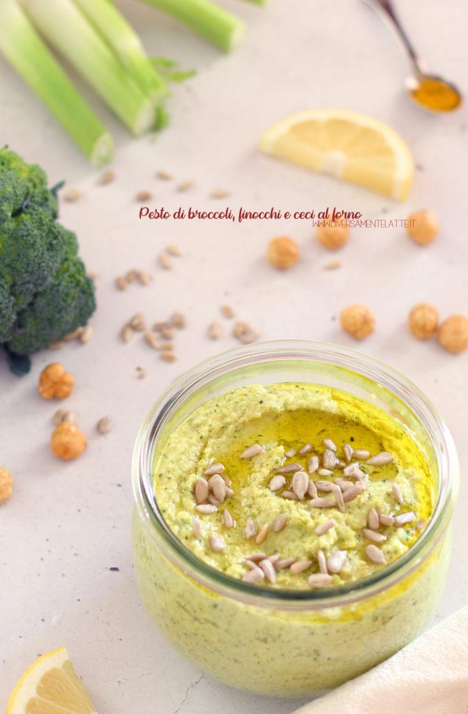 pesto di broccoli finocchi e ceci