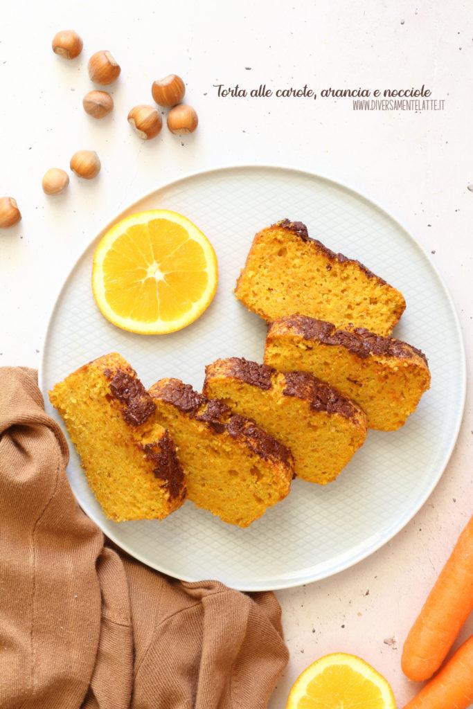 torta carote arancia nocciole