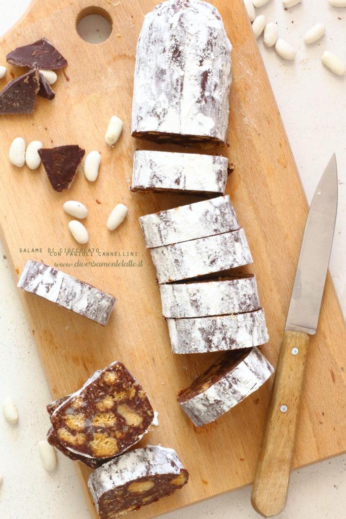 salame di cioccolato con fagioli