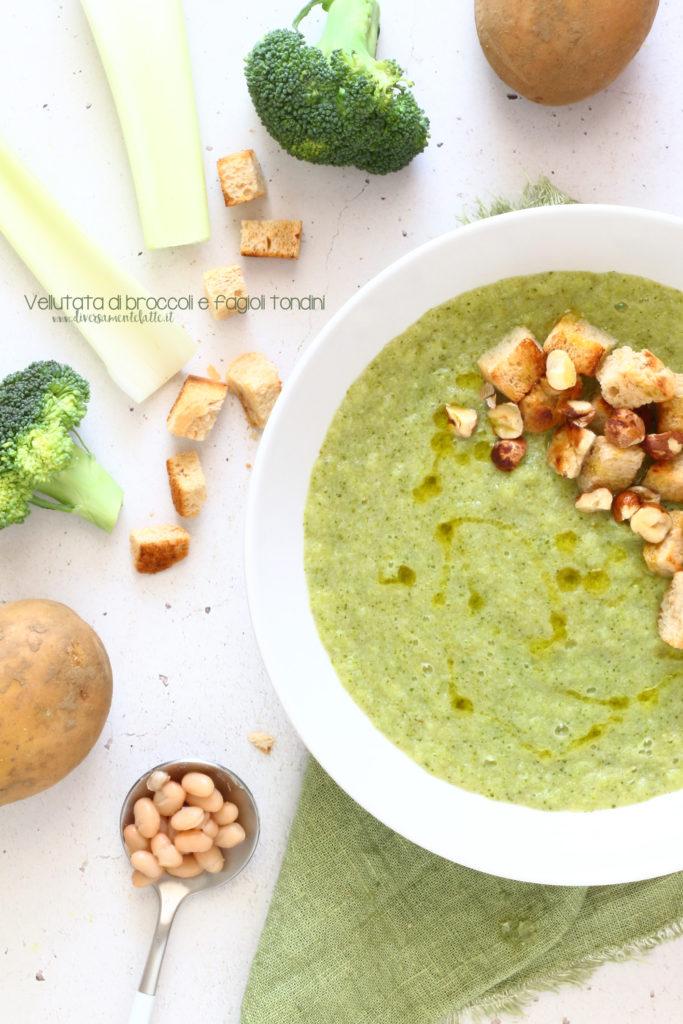 vellutata di broccoli e fagioli tondini