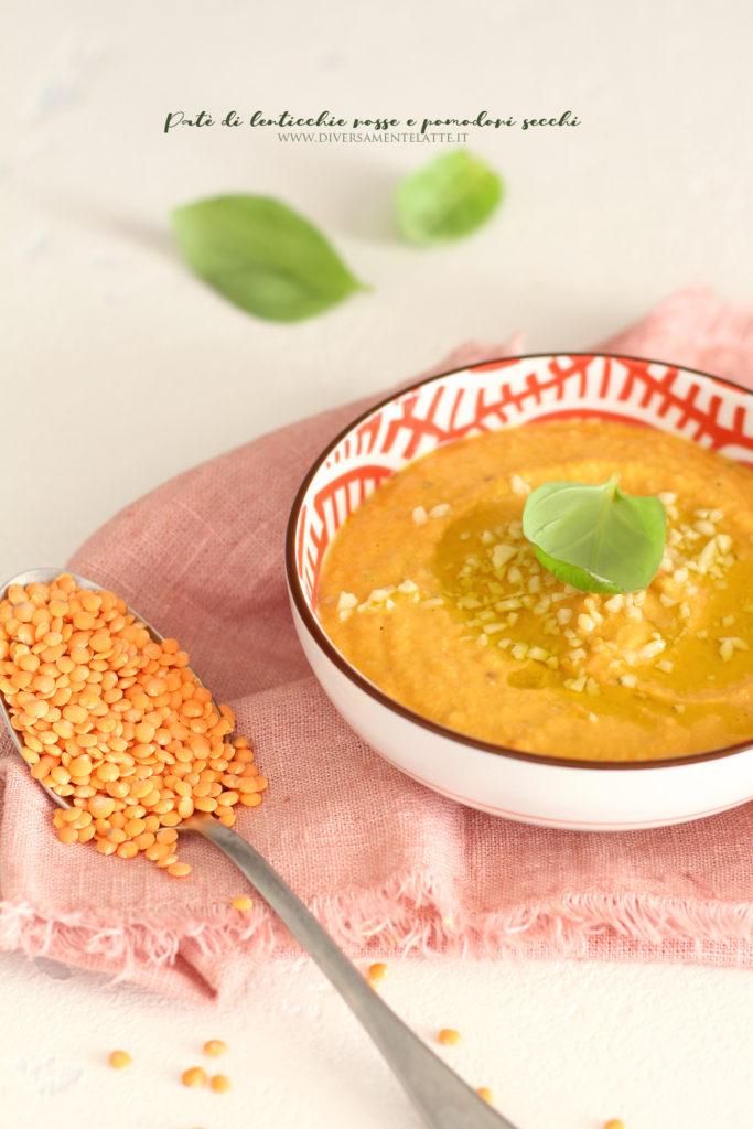 pate di lenticchie rosse vegan