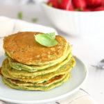 diversamentelatte_pancake con foglie di ravanello