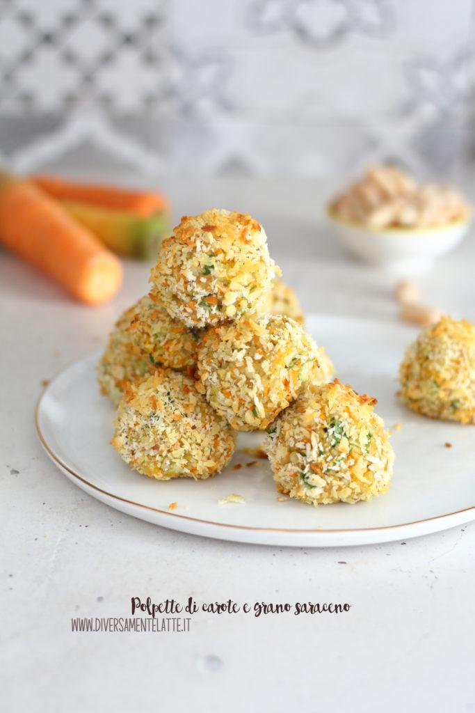 polpette di carote e grano saraceno