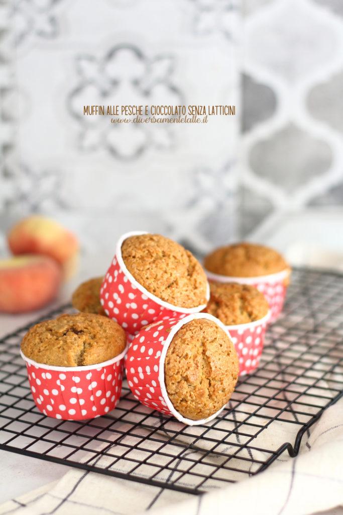 muffin pesche e cioccolato